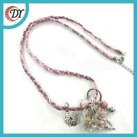 Wholesale Handmade Fabric Jewelry Leather necklace jewelry