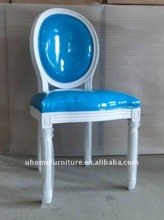 blue and white style Frech louis chair for banquet rooms