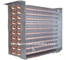 refrigerator/freezer/showcase 12.5mm copper tube aluminum fin evaporator coil