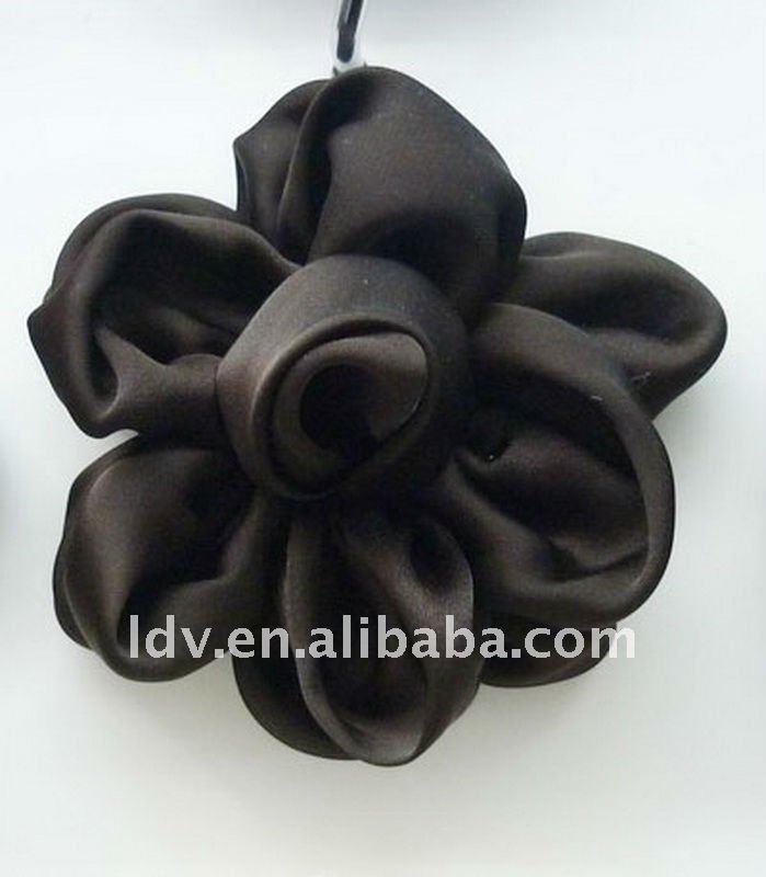 hecho a mano de flores de tela para prendas de vestir accesorios