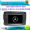 car dvd radio mercedes w203/w210/w209/w208 with gps navigation Radio, bluetooth, ipod, canbus steering, usb sd slot..