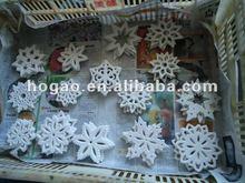 ceramic snowflake festival decoration