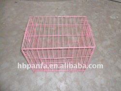 pink coated bird cage Removable Tray