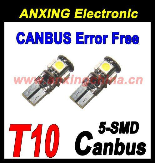 5-SMD Canbus led w5w t10 194,Best w5w t10 canbus led,Auto led bulb t10 smd 5050
