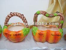 ceramic pumpkin basket craft