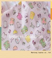 rosa di cotone stampato tessuto di flanella per i bambini