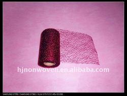 Burgundy flower wraps mesh/floral wraps.