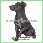 life size brass dog sculpture for garden decoration BAS-I012