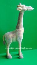 Custom flocking plastic deer animal figurines toy
