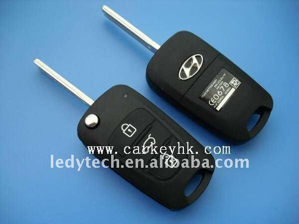 Hyundai 3 buttons remote flip key blanks wholesale