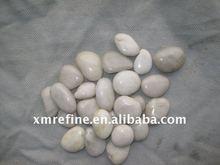 Natural white river rocks