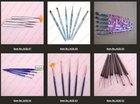 wholesale #2/#4/#6/#8/#10 differen size Nail Art Design Set Dotting Painting Drawing Polish Brush Pen Tools AGB