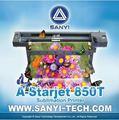 Eco solvente impressora têxtil/máquina de impressão têxtil 850t com epson dx5 cabeça 1.8m/3.2m/1440 dpi