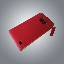 Red & White Genuine Mobile Phone Leather Case For Sumsong i9100 L4601