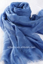 2014 Winter Newest OEM Solid color Silk Modal scarf Fray Edge