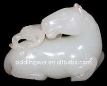 Jade branco ofício da mão