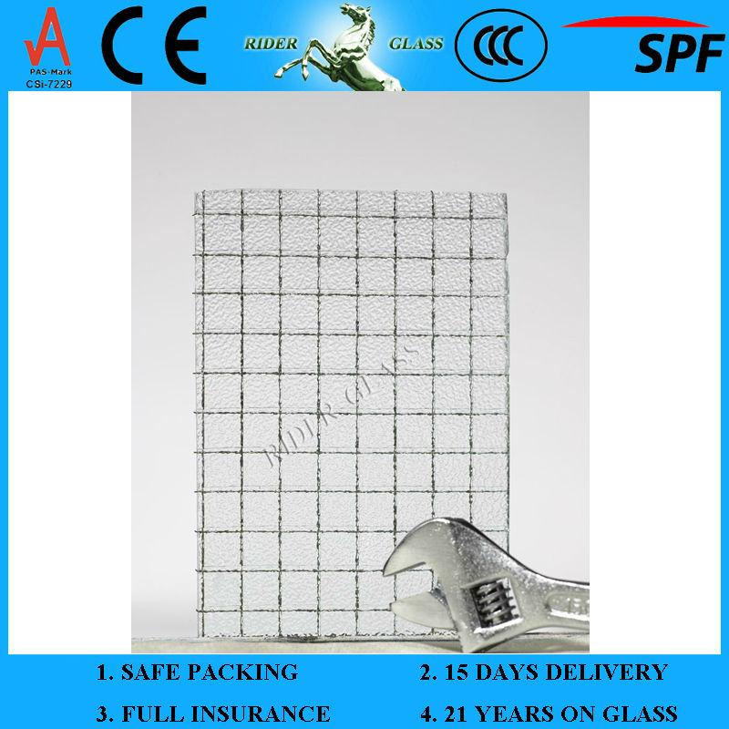 3.5 - 8 mm prix de verre armé avec CE et ISO9001