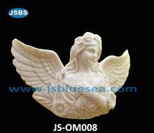 Handicraft of white marble angel sculpture