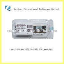 593913-B21 ddr3 8gb 1x8GB 2Rx4 PC3-10600 CAS-9 ram memory