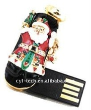 Santa Jewel USB Flash/Pen Drive For Christmas Gift