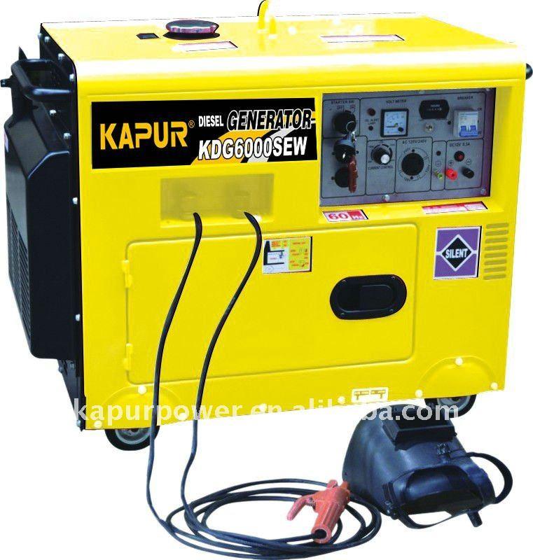 la máquina de soldadura generador