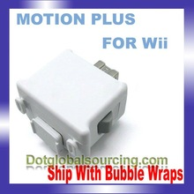 100% Brand New Game Controller Remote Motion Plus Motionplus For Nintendo Wii + Case White