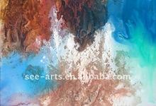 handpainted ganesha glass painting SJA-0713