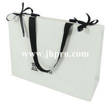 gloss laminated paper bag with long handles