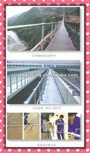 galvanized mild steel pipe staircase railing design/banister