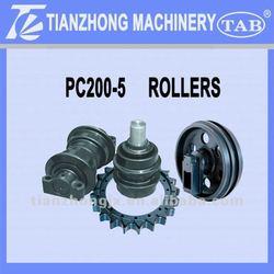 KOMATSU Excavator parts PC200-5/6 Track Roller,Top Roller,Idler, Sprocket