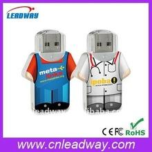 Mini esporte camisa usb drive, A impressão do logotipo gravado disponível