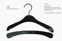 "The HEAD 16"" woman suit hanger anti slip soft finishing plastic coat hanger with polished swivel hook"