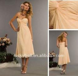 Hot sale India Cheap Tea--Length Chiffon Cocktail dress