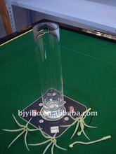 Cylinder clear flower glass vase