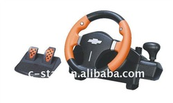 Wireless Vibration Racing Game Wheel For PS2 ,Gear Shift Racing Wheel