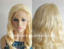 "Top quality 18"" 613# body curl Brazilian hair lace front wig"