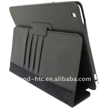 Black PU leather smart stand case cover for ipad 2