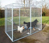 Galvanized metal dog cage/dog kennel/dog house for sale