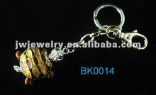 2012 hot sale zinc alloy epoxy 3D turtle keychain,3D animal keychain