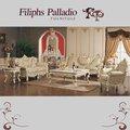 Sofá mobiliário clássico - entalhadas à mão folha douramento sofa conjunto