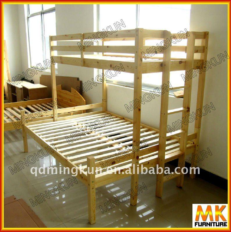Madera litera con listones camas identificaci n del - Como hacer literas ...
