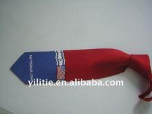 100% woven polyester printing flag hand made stripe necktie for men