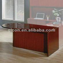 Cherry P-shaped office desk SON-41R