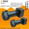 Bolt 12.9 grade M22 excavator&bulldozer track shoes/link bolt&nut(ISO9001:2000)