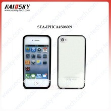 Unique design pc cover with transparent back cover clear ( back cover can be open ) for iphone 4S/4Gprotector Back Parel)