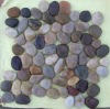 multi-color meshed pebble and cobble tile