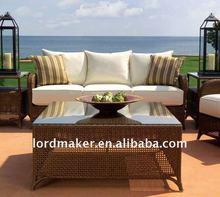 2012 wicker outdoor furniture of rattan sofa set Pure Series P-1#