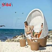 2012 cast aluminum outdoor furniture of egg shaped wicker sofa set Sun Series S-04#