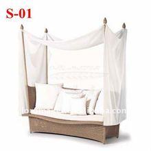 2012 rattan daybed outdoor furniture garden furniture of ratan garden furniture Daybed Sun Series S-01#