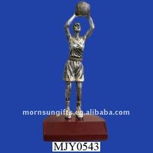 Antique handmade hotsale resin basketball player trophy